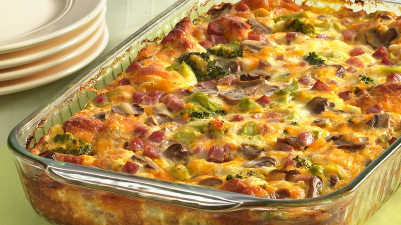 Ham and Cheese Omelet Bake