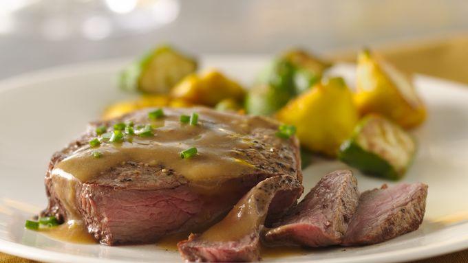 Lemon Dijon Pan Steak