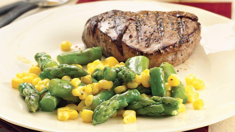 Gluten-Free Asparagus and Corn with Honey Mustard Glaze