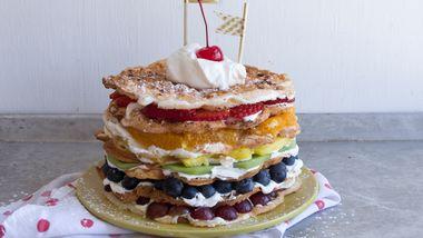 Angel Food Waffle Shortcake