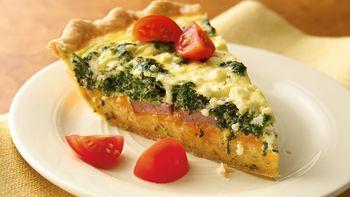 Spinach, Sausage and Feta Quiche