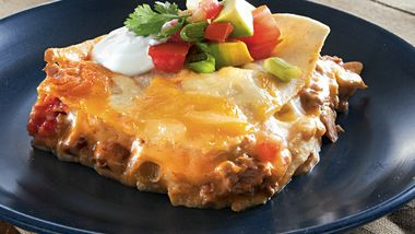 Cheesy Layered Mexican Bake