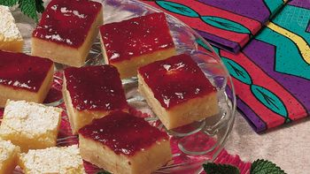 Raspberry Cheesecake Bars (lighter recipe)