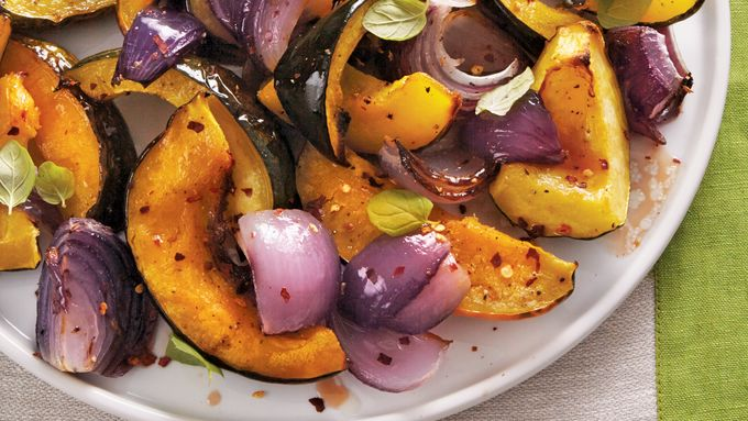 Sweet-and-Sour Roasted Acorn Squash