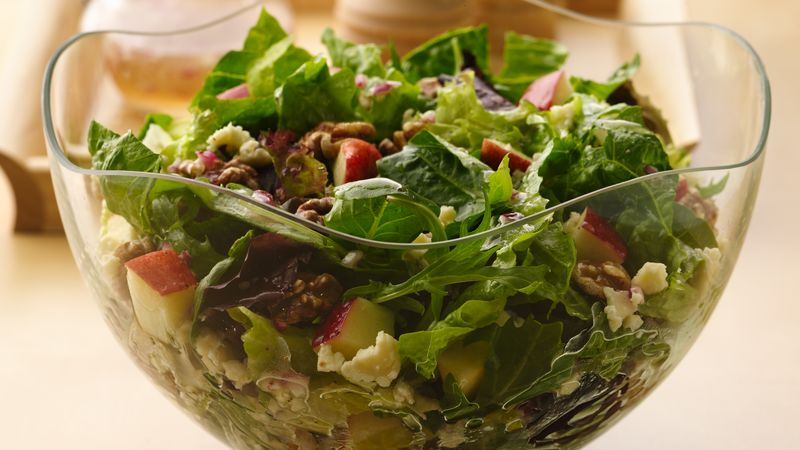 Apple, Cheese and Toasted Walnut Salad