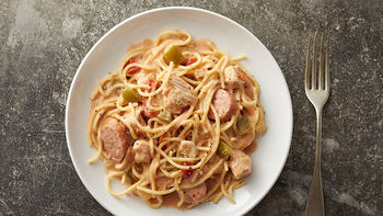 Slow-Cooker Cajun Chicken Spaghetti