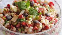 Fruit Salsa with Chocolate Chips