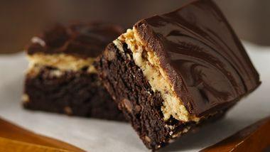 Gluten-Free Peanut Butter Truffle Brownies