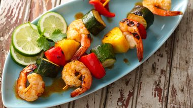 Taco Seasoned Shrimp Kabobs