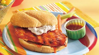 Grilled Buffalo Chicken Sandwiches