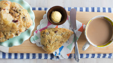 Cranberry-Walnut Greek Yogurt Scones