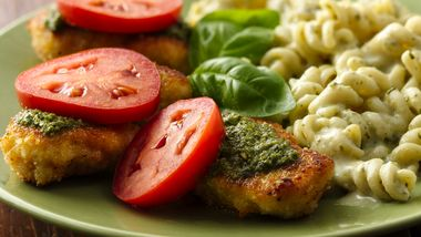 Pesto Parmesan Chicken and Pasta