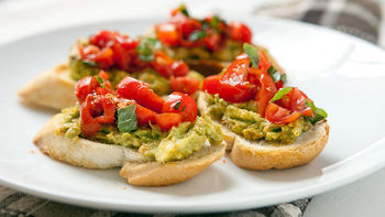 Mexican Avocado Bruschetta
