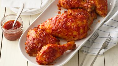 Baked Mouth-Watering Barbecued Chicken