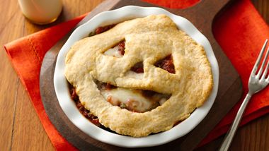 Halloween Pizza Pot Pies