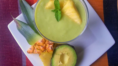Avocado, Pineapple and Coconut Pudding