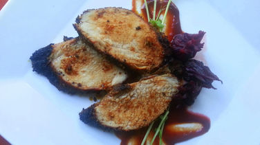 Pork Loin with Hibiscus and Chipotle Sauce
