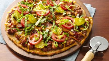 Gluten-Free Bacon Cheeseburger Pizza