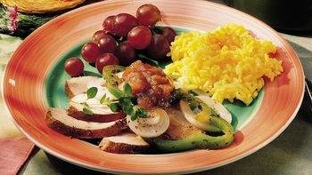Turkey-Brown Rice Pilaf