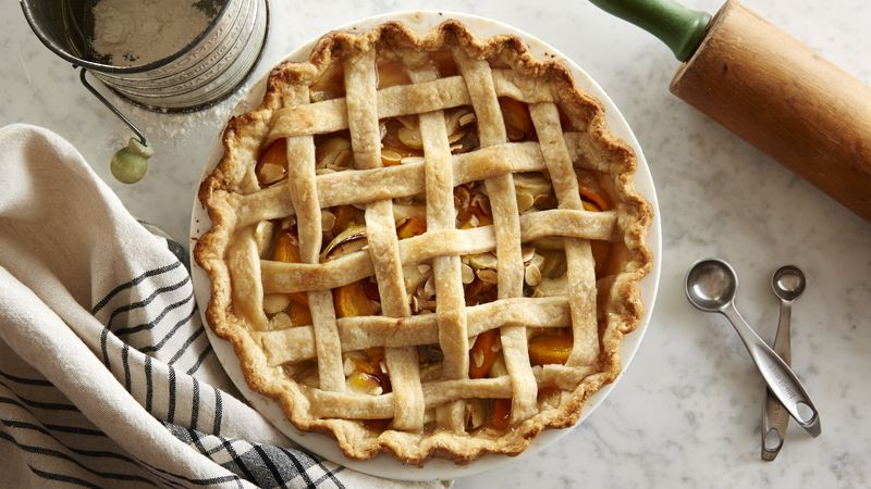 Lattice Peach-Apple Pie recipe from Betty Crocker