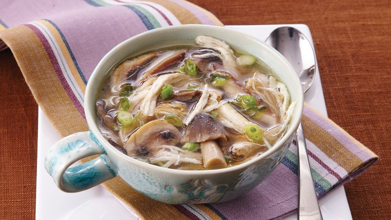 Slow-Cooker Asian Chicken and Mushroom Soup