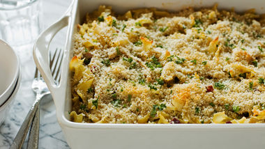 Chicken-Bacon-Ranch Pasta Bake