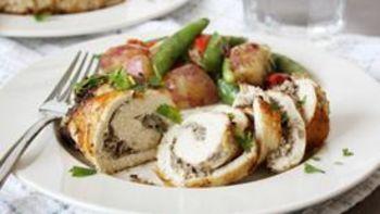 Chevre and Mushroom Stuffed Chicken
