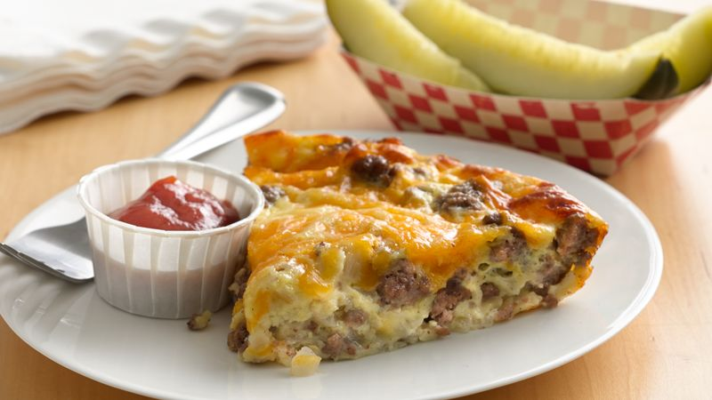 Impossibly Easy Cheeseburger Pie recipe from Betty Crocker
