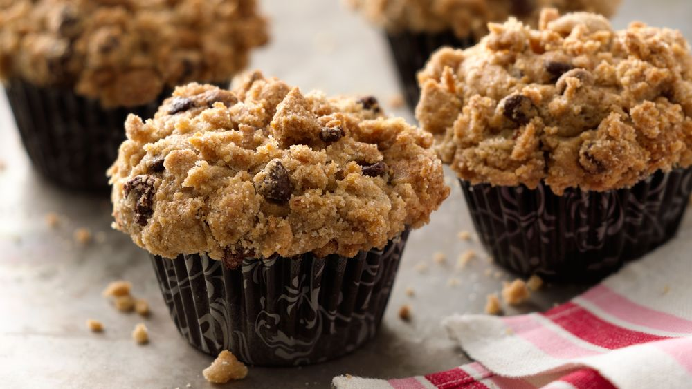 Banana-Chocolate Chip Streusel Muffins