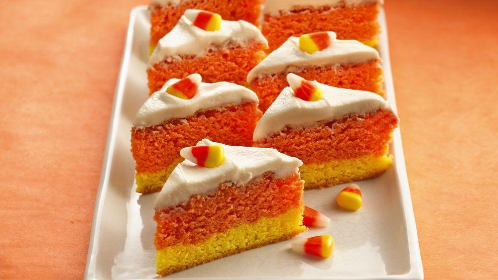 Orange Candy Corn Bars