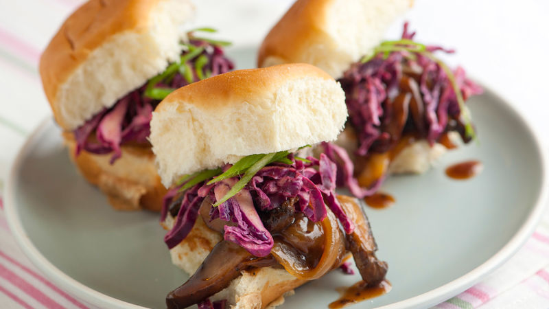 Sweet and Sour Portabella Sliders