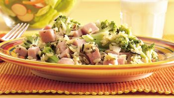 Ham, Broccoli and Rice Skillet Dinner