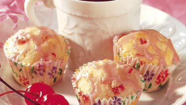 Mini Maraschino Cherry Muffins