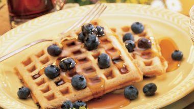 Blueberry-Whole Grain Waffles