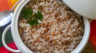 Rice with Pigeon Peas and Coconut