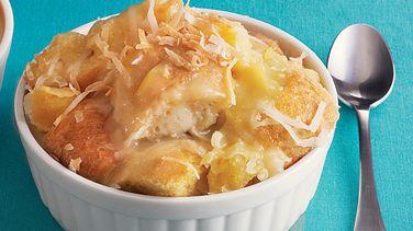 Pineapple-Coconut Bread Pudding
