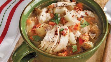 Turkey-Baked Potato Soup