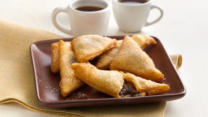 Chocolate-Caramel Crescent Sopapillas