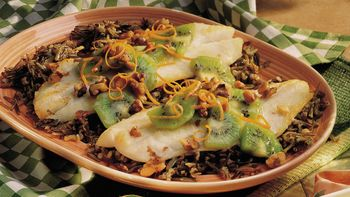 Orange Roughy with Kiwi and Walnuts