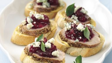 Spiced Pork Tenderloin Crostini