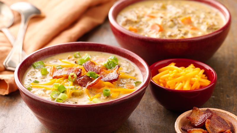 Slow-Cooker Cheesy Chicken and Bacon Soup