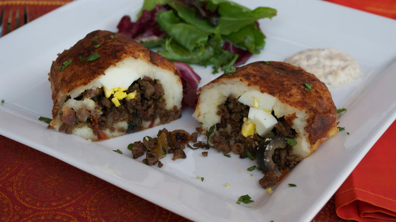 Chilean Style Stuffed Potatoes
