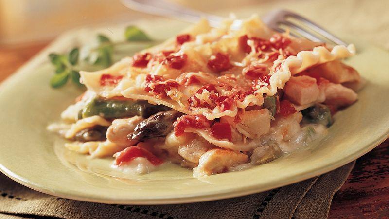 Golden-Crusted Chicken Asparagus Lasagna