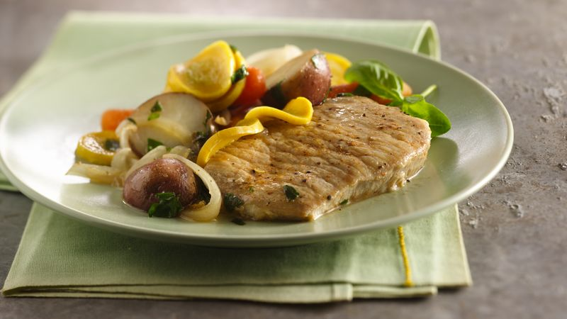 Slow-Cooker Pork Chops with Vegetable Medley