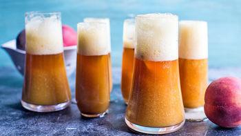 Peach Beer Mimosas