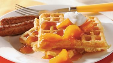 Dreamy Orange Waffles