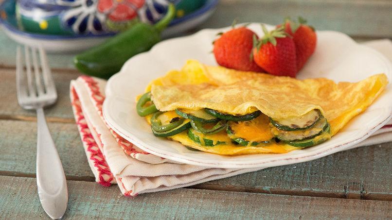 Omelete de Calabacín Asado y Jalapeño