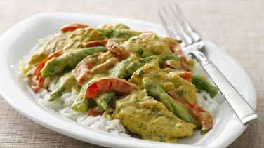 Chicken Curry with Sugar Snap Peas