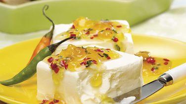 Dip para Untar de Durazno, Queso Crema y Jalapeños