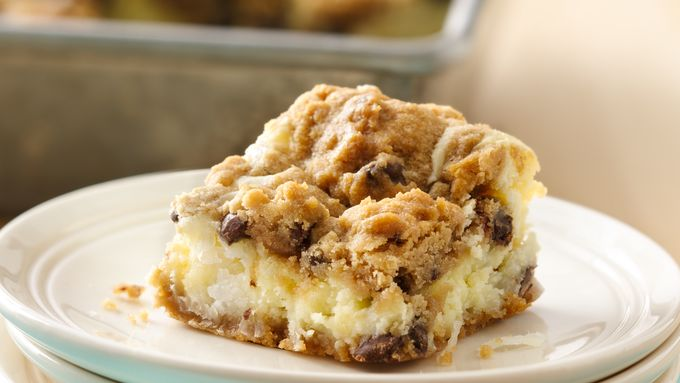 Chocolate Chip Cheesecake Bars (cookie dough tub)